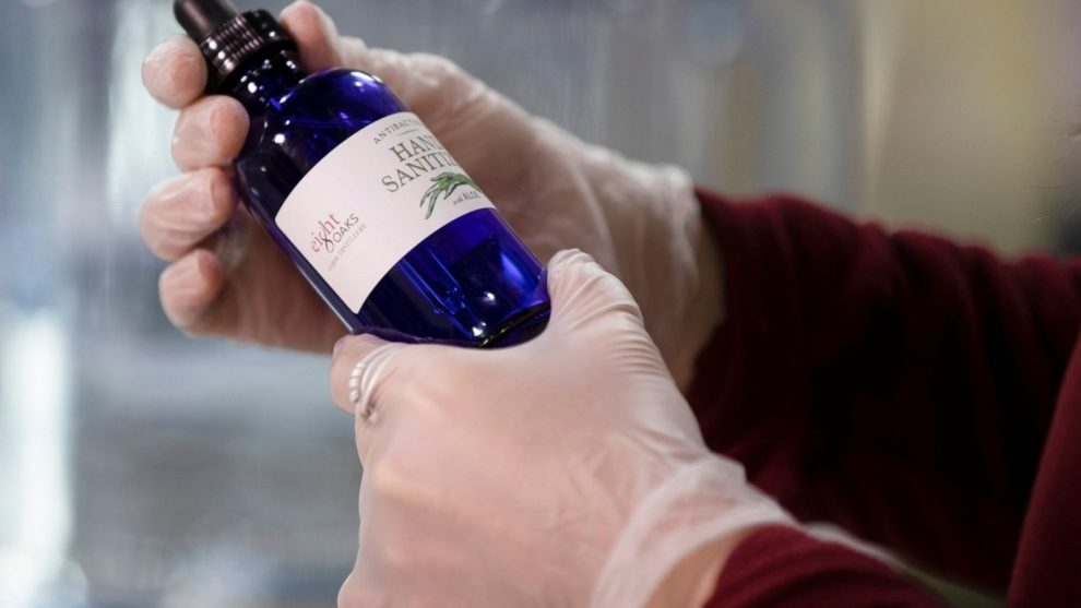 Make Hand Sanitisers with Leftover Wine
